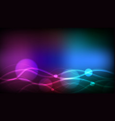 Background template design with colorful lights vector