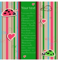 Background with ladybirds in love vector image