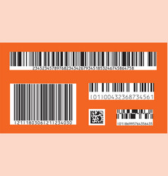 bar code icon set of modern flat barcode can vector image