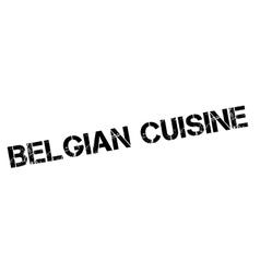 Belgian Cuisine rubber stamp vector