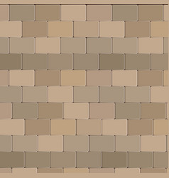 Brick wall stone design in brown color vector