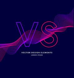 bright poster symbols of confrontation vs vector image