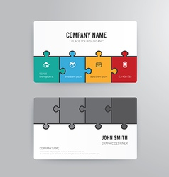 Business card template modern abstract vector