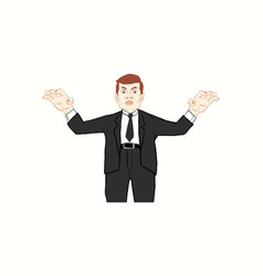 business man in black suit vector image