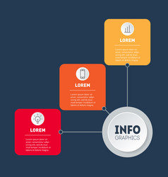 business presentation or infographics concept vector image