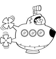 Cartoon submarine vector image