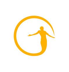 Circle of bless symbol design vector
