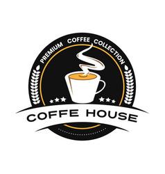 Coffe logo emplems vector