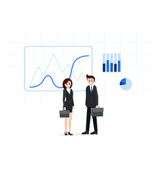 confident business people with briefcases vector image