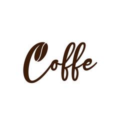 Creative coffee icon for logo design concept vector