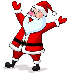 Cute Santa Cartoon Waving vector image