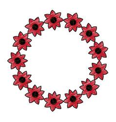 decorative wreath flower natural oranment vector image