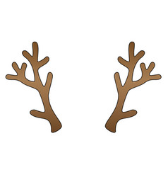 Deer antlers - color template with editable vector