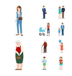 design of family and people logo set of vector image