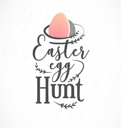 easter egg hunt greeting card design element vector image