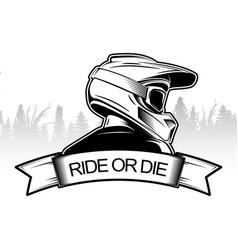 Extreme sport logo design motocross downhill vector