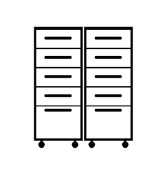 file cabinets drawers vector image