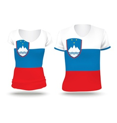 Flag shirt design of slovenia vector