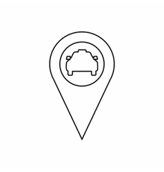 Geo taxi icon outline style vector
