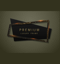 geometric black banner with sparkling vector image