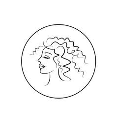 Girl face profile logo vector