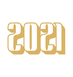 golden happy new year 2021 celebration greeting vector image