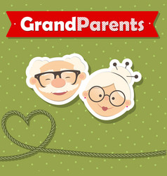 Happy grandparent day design vector