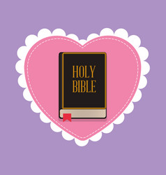 Holy bible sacred book blessed wedding vector