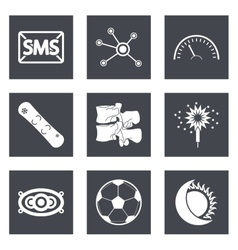 Icons for Web Design set 40 vector image