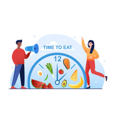 Intermittent fasting time-restricted eating vector