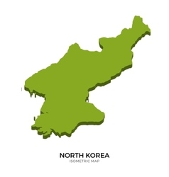Isometric map of North Korea detailed vector