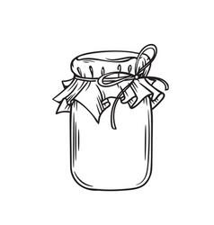 Jar of honey or glass jar vector