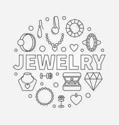 Jewelry round made with vector