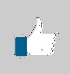 like icon in trendy flat style thumb up vector image