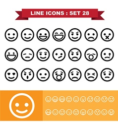 Line icons set 28 vector image