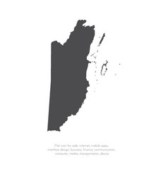 Map belize isolated black on vector
