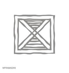 Monochrome icon with adinkra symbol mframadan vector