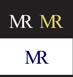 Mr logo vector