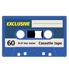old fashion cassette tape design vector image