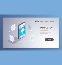 online downloading mobile application computing vector image