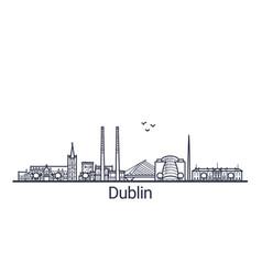 Outline dublin banner vector