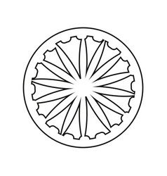 Outlined wheel on white background vector