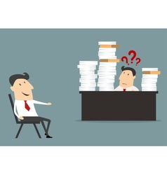 Overworked businessman vector