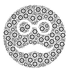 Pension smiley composition of cog vector