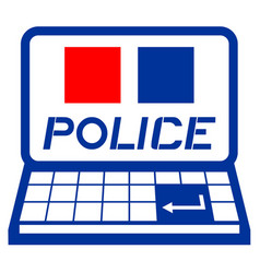 police pc vector image