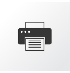printer icon symbol premium quality isolated vector image