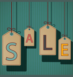 product labels with the word sale vector image