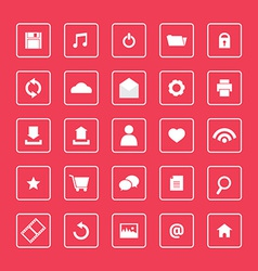 Red and White Website Icons Set vector image