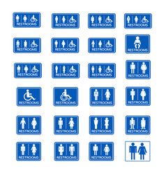 restroom sign icon set vector image