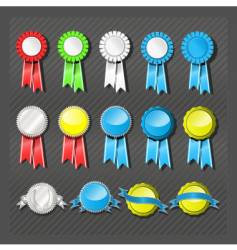 seals and ribbons vector image vector image